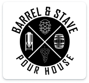 Barrel and stave logo